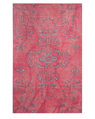 Meva Rugs Medallion Hand-Knotted Rug, Pink, 5′ x 8′