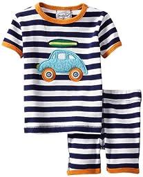 Mud Pie Baby Boys\' Two Piece Short Pajama Set, Multi, 0 6 Months