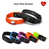 CATOE® ID107 Bluetooth Smart Bracelet Heart Rate Monitor Sport Wristband Activity Tracker for Android iOS Smartphone (Blue)