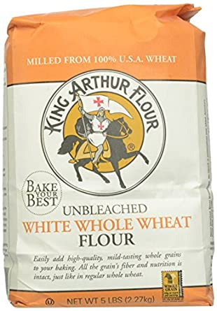 King Arthur White Whole Wheat Flour, Unbleached, 5 Pounds