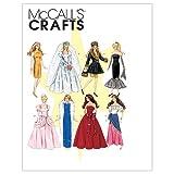 【McCall】バービーやジェニーなど 29cmドール用 8種類のドレスの型紙セット *6232