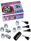 "Gorilla Automotive 40933 Acorn Bulge Open End Wheel Installation Kit (12mm x 1.50"" Thread Size) - For 5 Lug Wheels"