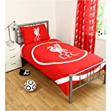 LIVERPOOL FC BULLSEYE SINGLE DUVET SET QUILT COVER LFC CREST FOOTBALL BEDDING