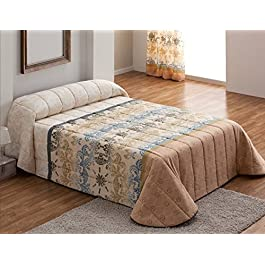 DECOARTESANAL-Colcha bouti Tanger para cama 105cm,color LILA