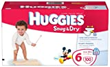 Huggies Snug & Dry Diapers, Size 6, Giant Pack, 100 Count