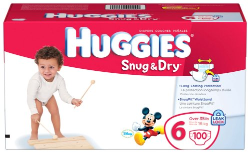 Huggies Snug & Dry Diapers, Size 6, Giant Pack, 100 Count - 1