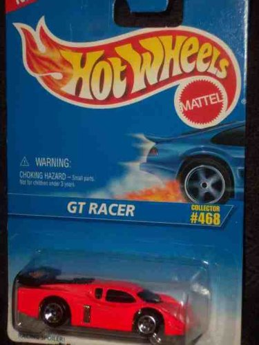 #468 GT Racer 5-spoke Wheels No Tampo Collectible Collector Car Mattel Hot Wheels - 1