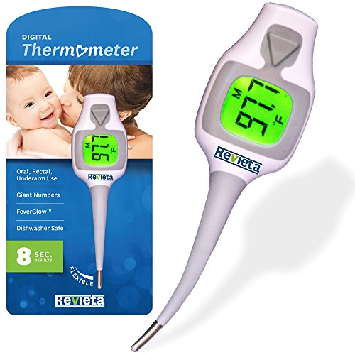 buy Digital TherMOMeter for Baby, Child and Adult. Fast (8 secs) Results. Large Display. Reliable for Body Temp Reading (Oral, Axial/Armpit, Rectal). Great idea for Baby Registry & Shower! for sale