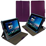 LuvTab® Multi-Angle Frameless Case / Cover with Bonus Bullet Stylus for Acer Iconia B1 / B1-A71 Tablet - 7 inch (PURPLE)