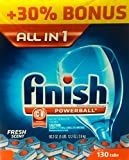 Finish Powerball Tabs Dishwasher Detergent Tablets, Fresh Scent, 130 Count
