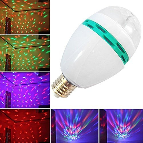 Denshine® E27 3W Colorful Rotating Disco Ball Light Mini LED RGB Crystal Magic Ball Bulb Effect light Disco DJ Stage Revolving Lighting For Xmas Home Dance Party Ballroom Club Pub Bar