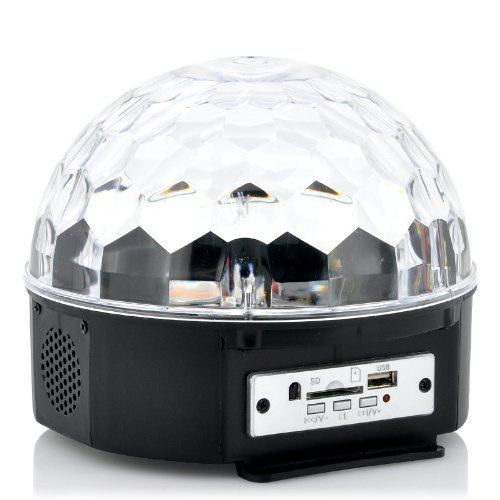 """Led Light Ball """"Magistrobe"""" - Remote Controlled, Music Activated, Plays Mp3S"""