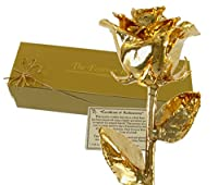 24K Gold Dipped Real Rose w/ Gold Gift Box! from The Forever Rose
