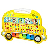Touch And Learn English Alphabets Learning Bus Shaped Musical Interactive Piano With Nursery Songs, Rhymes & Carry...