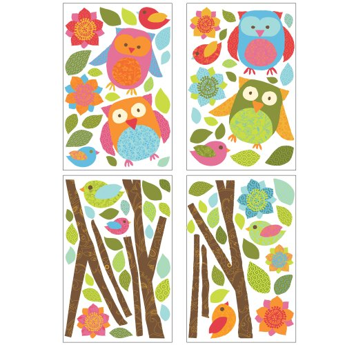 Lot 26 Studio ADD-HERES Wall Decals, Owls and Branches