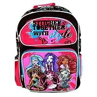 Monster High Backpack | 16 in School Bag with 3D Hologram | @ Sunset Jungle