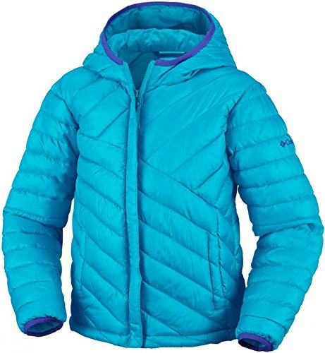 Columbia Little Girls' Powder Lite Puffer, Atoll, 4T
