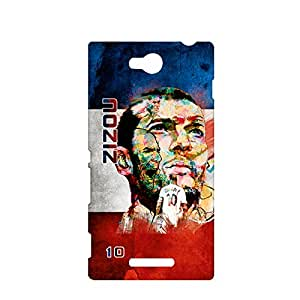 ezyPRNT Hard back case for Sony Xperia C Zinadaine Zidane Football Player