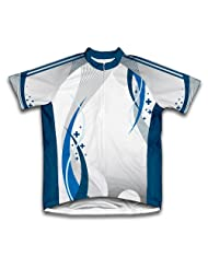 Blue Curve Short Sleeve Cycling Jersey for Women