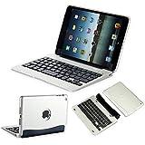 efluky ipad 専用Bluetoothキーボード ipad mini1/2/3 分離式 ワイアレスキーボードケース オートスリープ機能付ipad mini 1/2/3対応 (シルバー)