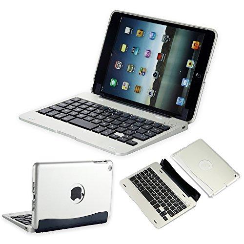 efluky iPad mini Bluetoothキーボードipad mini 1/2/3に対応 可移動的保護 SmartCover (シルバー)