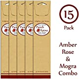 Panchratan Perfumed Charcoal Incense Sticks ( Pack Of 15, 23cms, Amber, Mogra And Rose Fragrance )