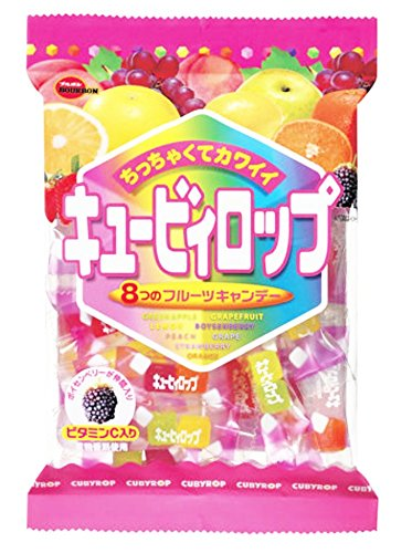 Bourbon Cubyrop, Japanese Cubed Hard Candy Assorted Fruit Flavors 112g (Pack of 2) (Muskat Grape compare prices)