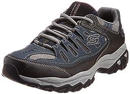 Skechers Sport Men\'s Afterburn Memory Foam Lace-Up Sneaker,Navy,10.5 4E US