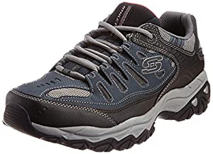 Skechers Sport Men's Afterburn Memory Foam Lace-Up Sneaker,Navy,11 M US