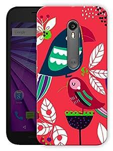 "Humor Gang Cute Pink Bird Art Printed Designer Mobile Back Cover For ""Motorola Moto X Style"" (3D, Matte, Premium Quality Snap On Case)"