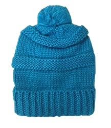 Moon Shadow Women's Beanie Cap - Bright Blue - One Size Fits Most