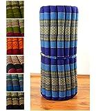 Kapok Rollmatte in 190cm x 75cm x 4,5cm; Liegematte bzw. Yogamatte, Thaikissen, Thaimatte als asiatische Rollmatratze