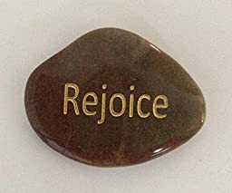 Rejoice Engraved Inspirational Stones Keepsakes Or Gifts To Family & Friends (New Words)