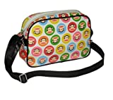 Paul Frank Monkey Face Holdall Messenger Shoulder Vintage Despatch Bag Back To School College Multi Image Gumball White