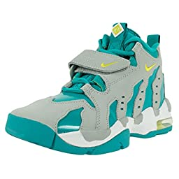 Nike Kid\'s Air DT Max 96 GS, WOLF GREY/VENOM GREEN-TURBO GREEN-WHITE, Youth Size 4.5