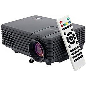 Mini LED Projector 120 Lumen HD Portable Multimedia for Video Movie Home Theater Support AV TV VGA HDMI USB SD