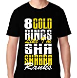 FTD Apparel Men's Shabba Ranks Hip Hop Rap T Shirt- Large Black