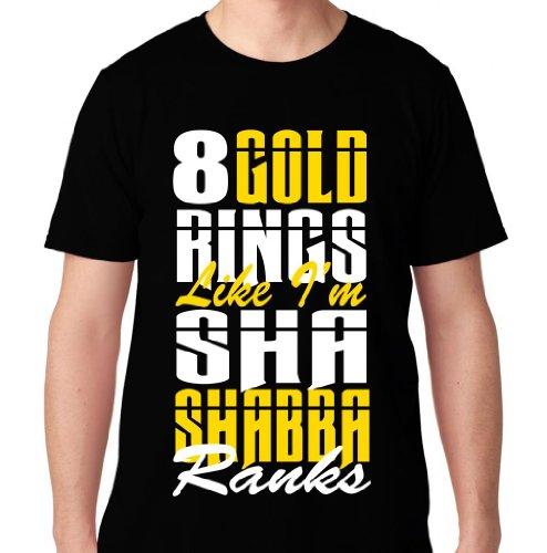 Ftd Apparel Men'S Shabba Ranks Hip Hop Rap T Shirt- Medium Black