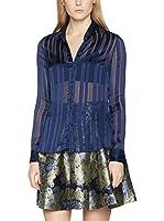 Guess Camisa Mujer Ls Katharina (Azul Oscuro)