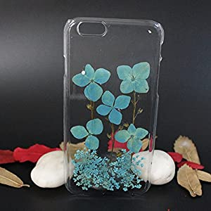 Beautiful Real Flowers Clear Slim Unique Design Phone Case for iPhone 6(11)