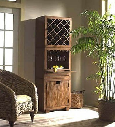 Padma's Plantataion Modulare Wine Unit, Dark Finish