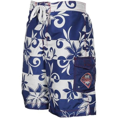 MLB Philadelphia Phillies Pinch Hit Floral Boardshorts - Royal Blue (Medium) at Amazon.com