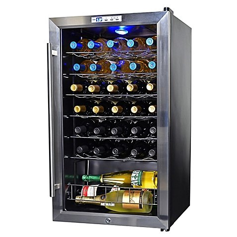 NewAir 33-Bottle Single-Zone Wine Cooler in Stainless Steel Model#AW-330E