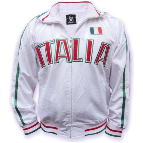 """Italy """"Italia"""" Soccer Jacket (White) (Xxx-Large)"""