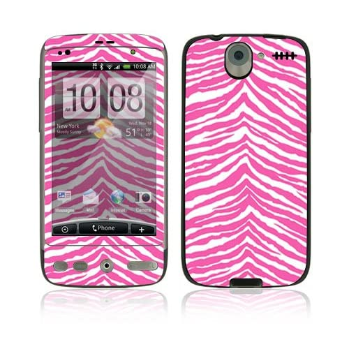 Pink Zebra Protective Skin Cover Decal Sticker for HTC Desire Cell Phone