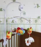 Bambia Baby Cot Bed Musical Calming Lullaby Mobile Nursery Accessory with Soft Animal Plush Figures - New in Box