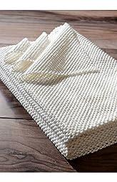 Plush Ultra Non-Slip Brown White Rug Pad, 8 Feet by 10 Feet (8\' x 10\')