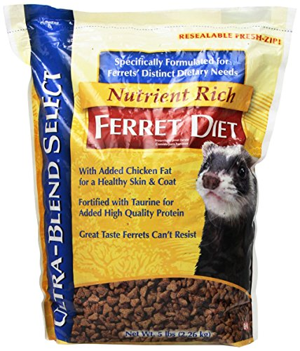 8 In 1 Pet Products SEOH406 6-Pack Ultra Blend Ferret Diet, 5-Pound