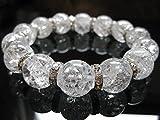 天然石 水晶 高品質 クォーツ 数珠 天然石 クリスタル パワーストーン ブレスレット 浄化 癒し