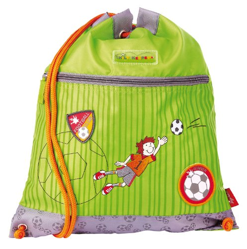 Imagen principal de Sigikid 23773 - Mochila saco de deporte con diseño de futbolista, color verde y gris